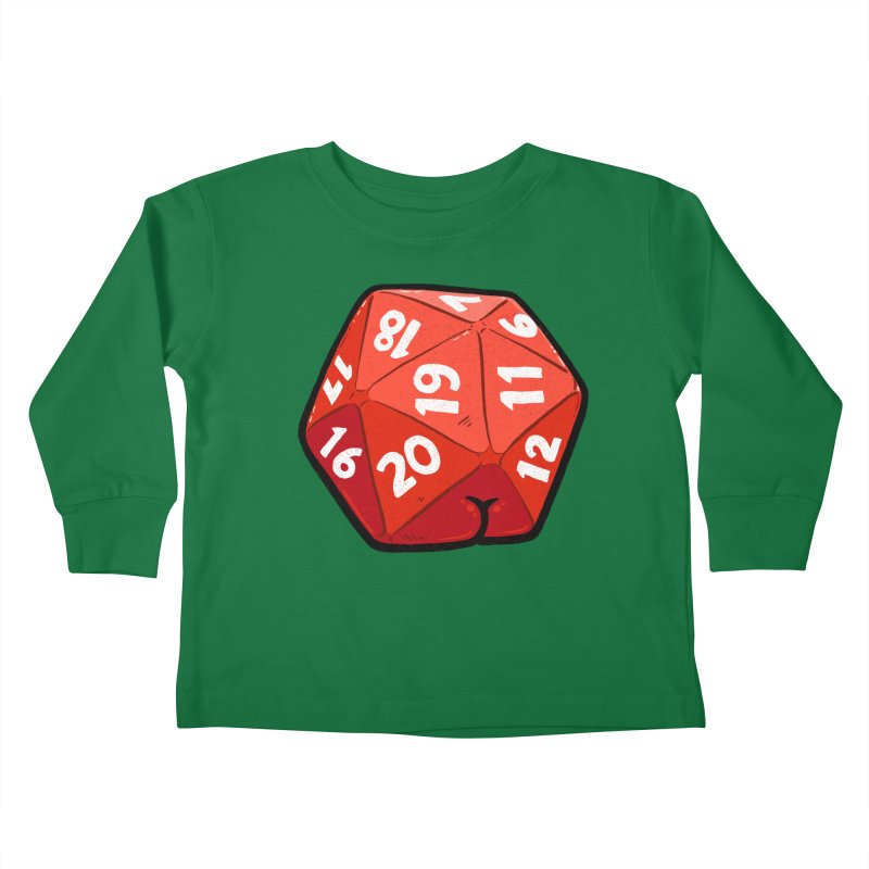 D20 Butt Kids Toddler Longsleeve T-Shirt by Brian Cook