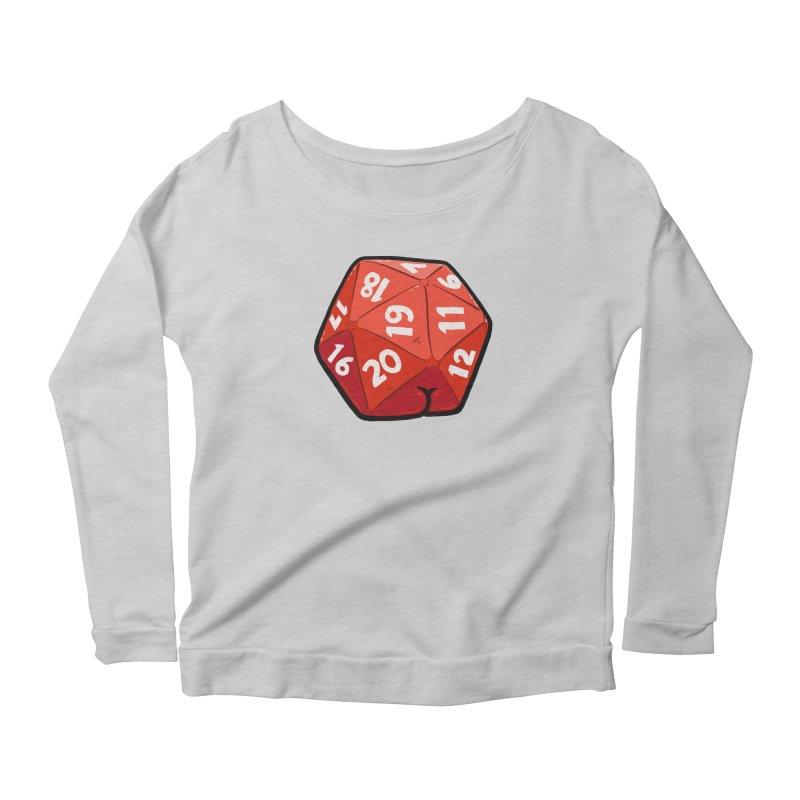 D20 Butt Women's Scoop Neck Longsleeve T-Shirt by Brian Cook