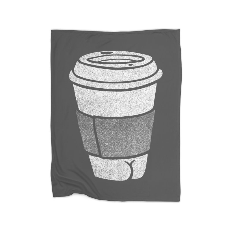 Coffee Butt (Mono Color Edition) Home Blanket by Brian Cook