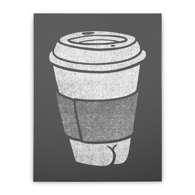 Coffee Butt (Mono Color Edition) Home Stretched Canvas by Brian Cook