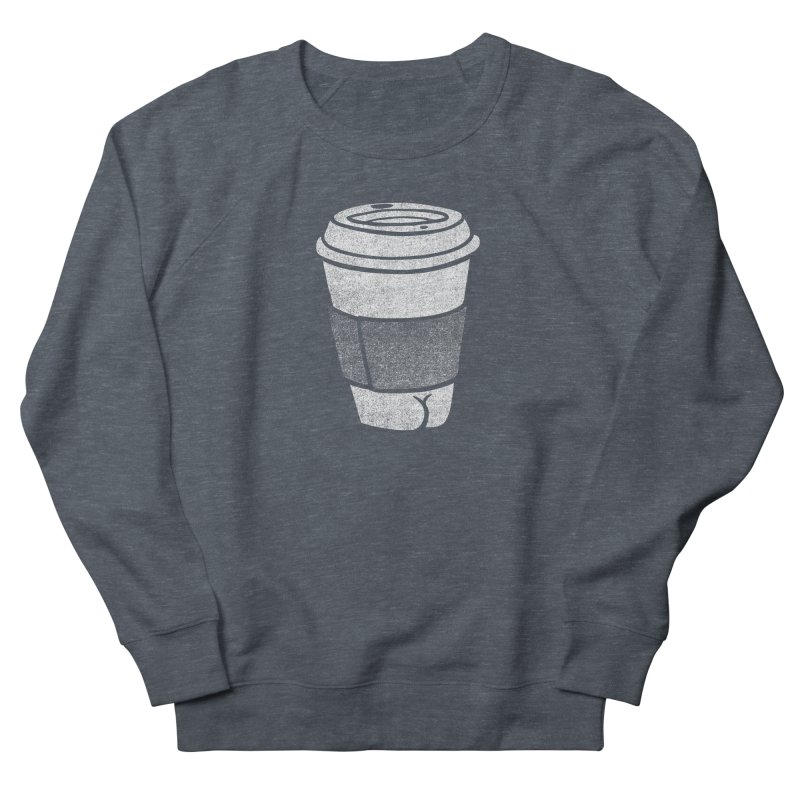 Coffee Butt (Mono Color Edition) Men's French Terry Sweatshirt by Brian Cook