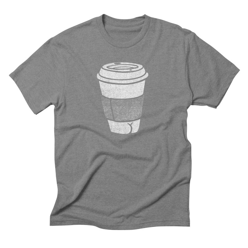 Coffee Butt (Mono Color Edition) Men's Triblend T-Shirt by Brian Cook