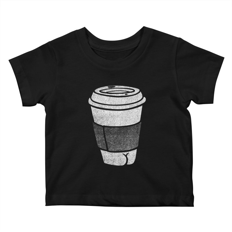 Coffee Butt (Mono Color Edition) Kids Baby T-Shirt by Brian Cook