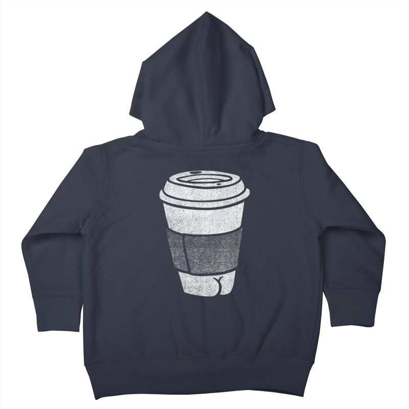 Coffee Butt (Mono Color Edition) Kids Toddler Zip-Up Hoody by Brian Cook