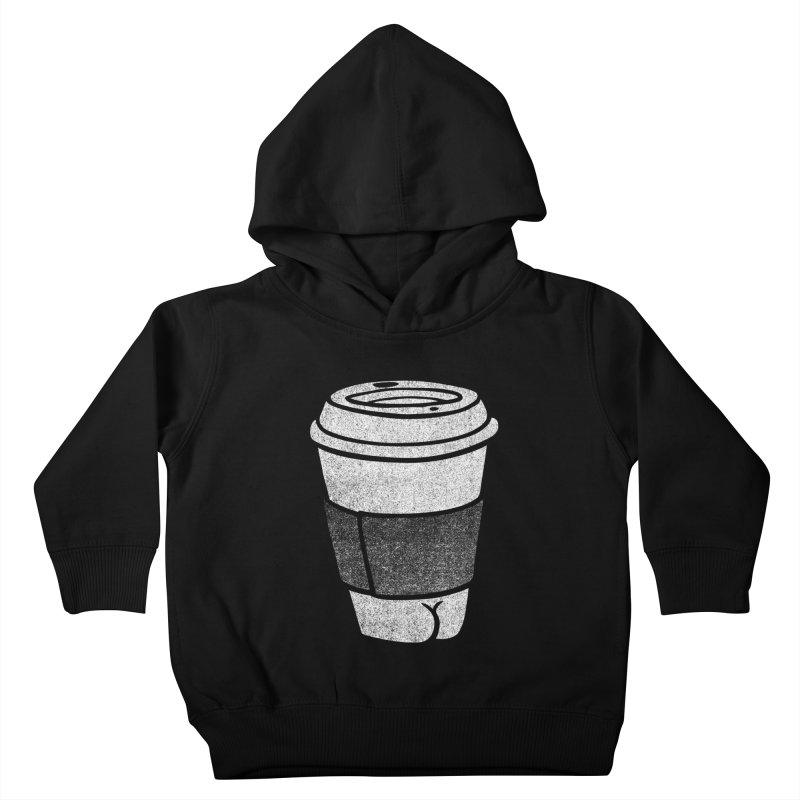 Coffee Butt (Mono Color Edition) Kids Toddler Pullover Hoody by Brian Cook