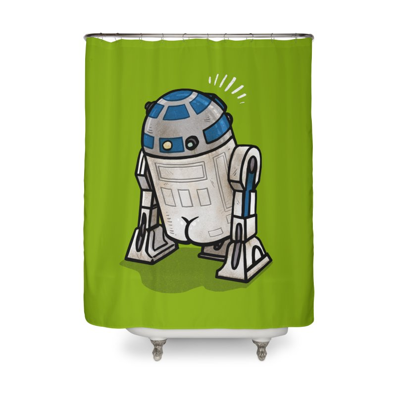 R2 Butt Home Shower Curtain by Brian Cook