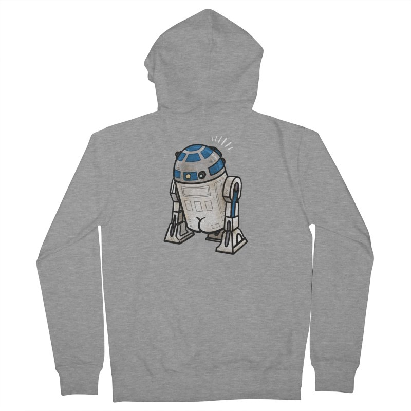 R2 Butt Men's French Terry Zip-Up Hoody by Brian Cook