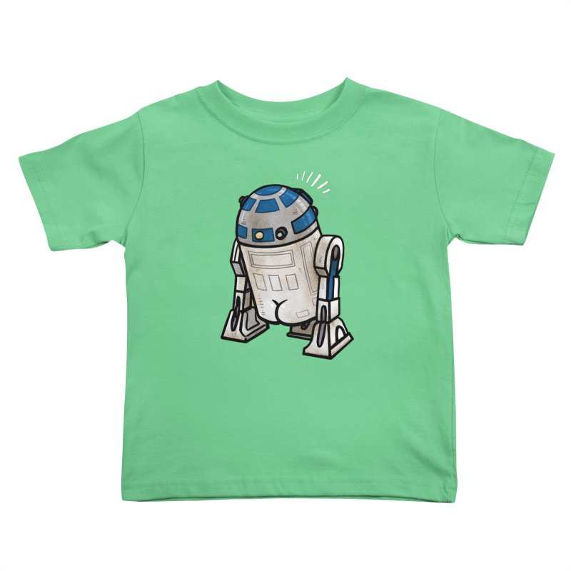 R2 Butt Kids Toddler T-Shirt by Brian Cook