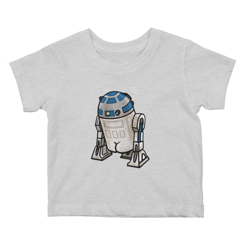 R2 Butt Kids Baby T-Shirt by Brian Cook