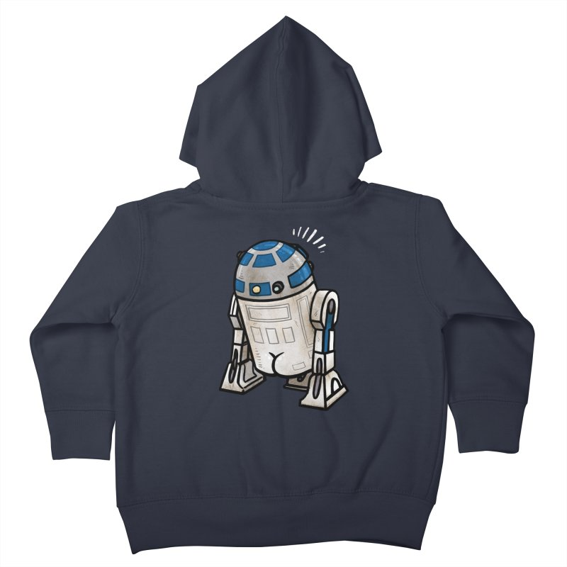 R2 Butt Kids Toddler Zip-Up Hoody by Brian Cook