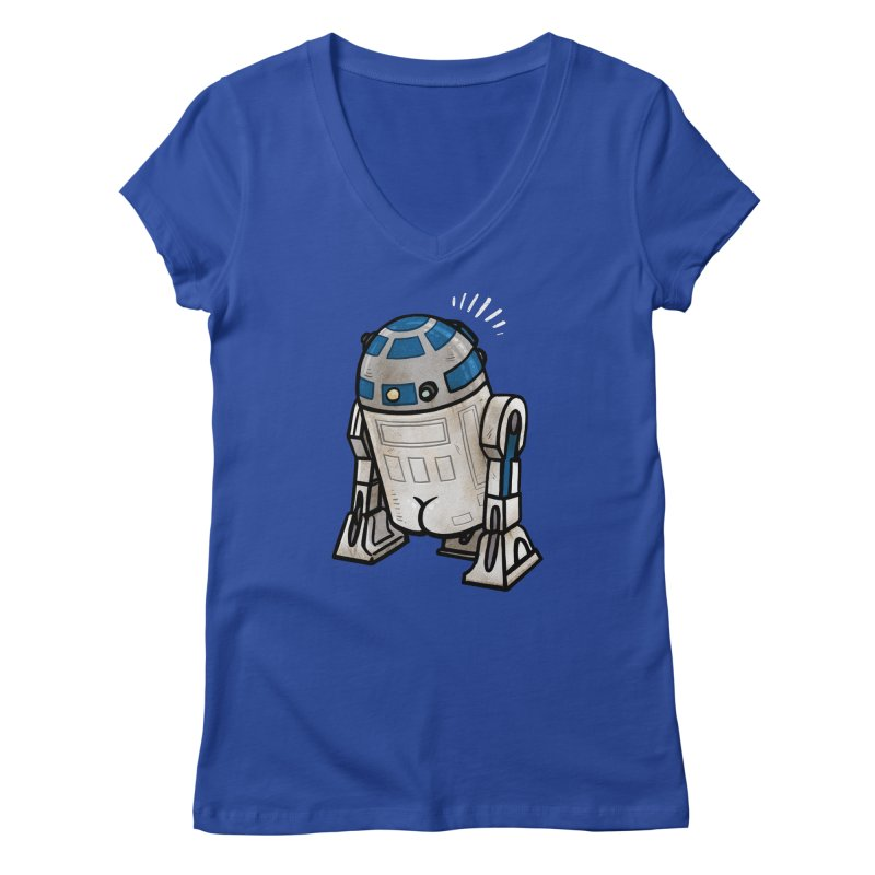 R2 Butt Women's Regular V-Neck by Brian Cook