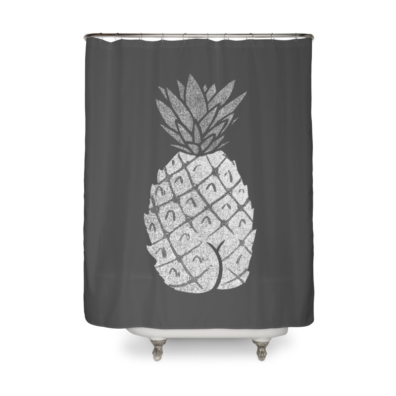 Pineapple Butt (Mono Color Edition) Home Shower Curtain by Brian Cook