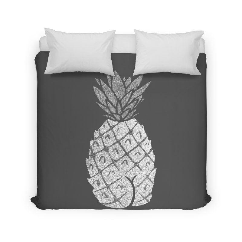 Pineapple Butt (Mono Color Edition) Home Duvet by Brian Cook