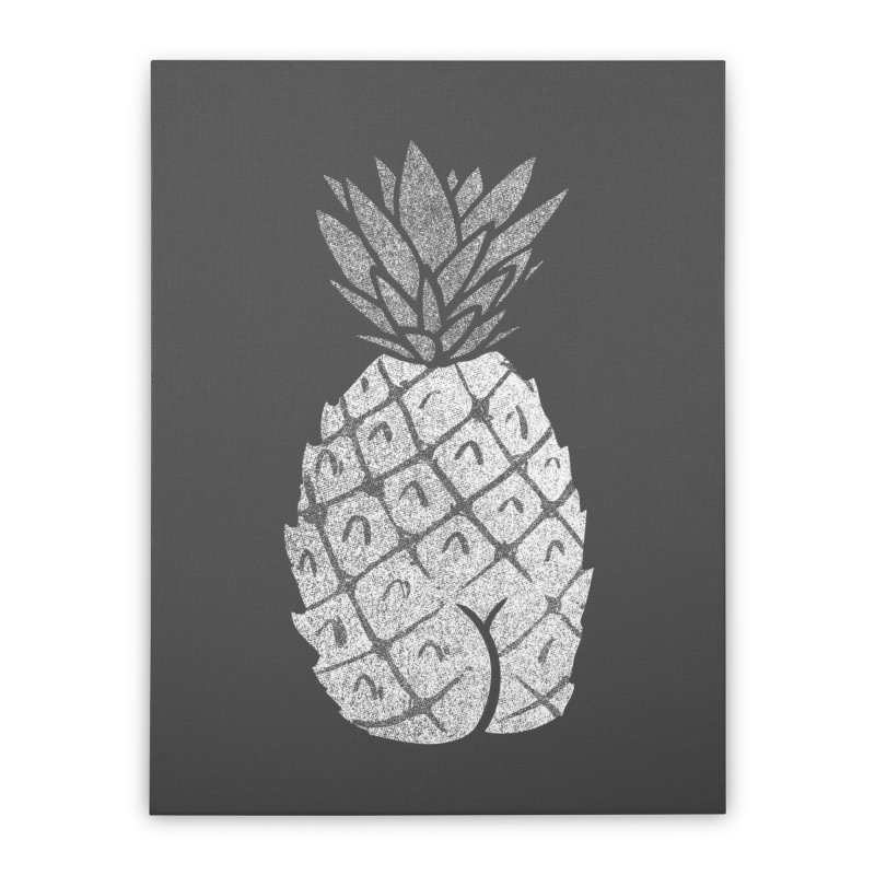 Pineapple Butt (Mono Color Edition) Home Stretched Canvas by Brian Cook