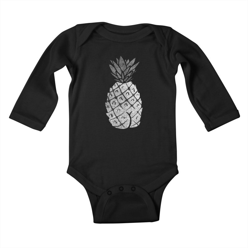 Pineapple Butt (Mono Color Edition) Kids Baby Longsleeve Bodysuit by Brian Cook