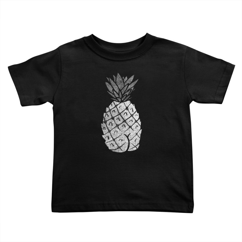 Pineapple Butt (Mono Color Edition) Kids Toddler T-Shirt by Brian Cook