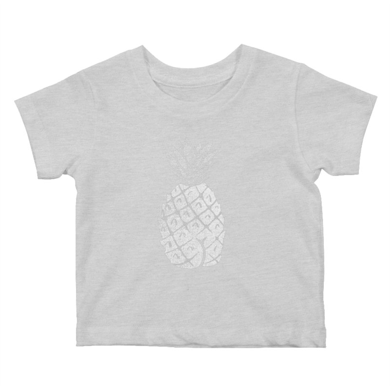 Pineapple Butt (Mono Color Edition) Kids Baby T-Shirt by Brian Cook