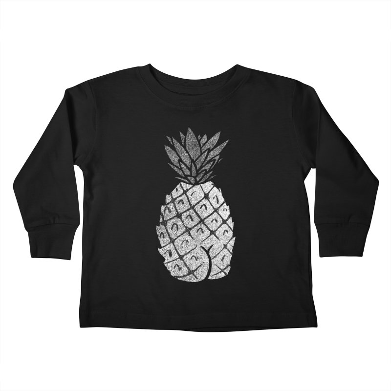Pineapple Butt (Mono Color Edition) Kids Toddler Longsleeve T-Shirt by Brian Cook