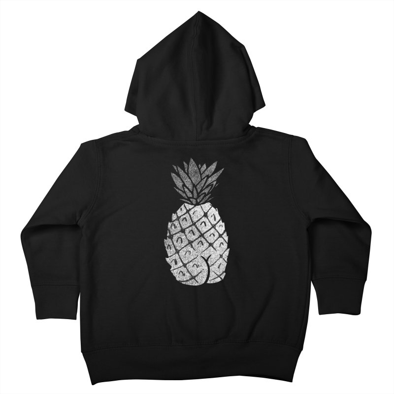 Pineapple Butt (Mono Color Edition) Kids Toddler Zip-Up Hoody by Brian Cook