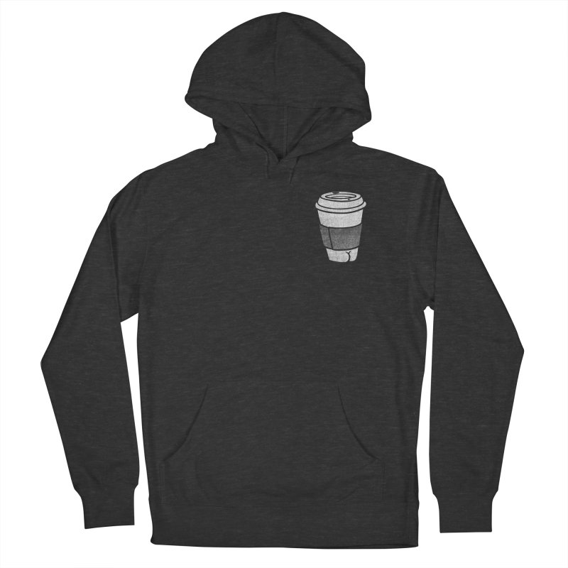 Coffee Butt (Mono Pocket Edition) Women's French Terry Pullover Hoody by Brian Cook