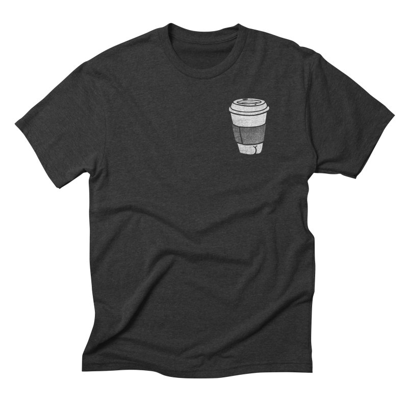 Coffee Butt (Mono Pocket Edition) Men's Triblend T-Shirt by Brian Cook