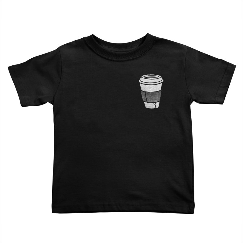 Coffee Butt (Mono Pocket Edition) Kids Toddler T-Shirt by Brian Cook