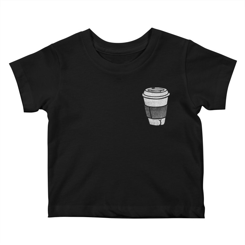 Coffee Butt (Mono Pocket Edition) Kids Baby T-Shirt by Brian Cook