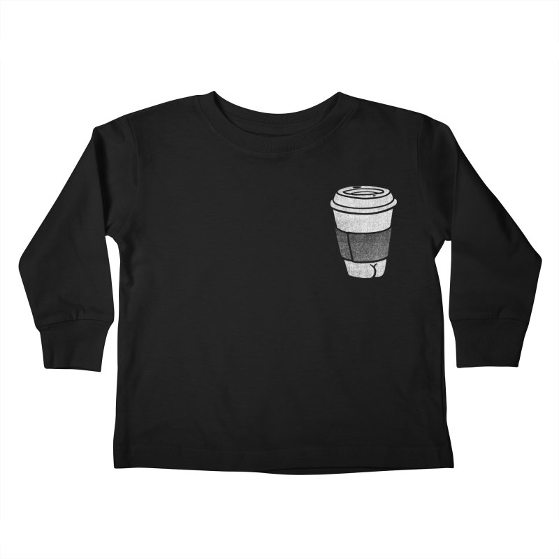 Coffee Butt (Mono Pocket Edition) Kids Toddler Longsleeve T-Shirt by Brian Cook