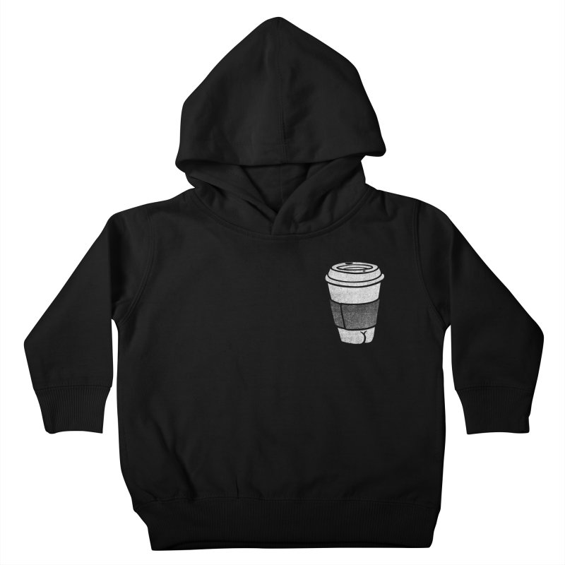 Coffee Butt (Mono Pocket Edition) Kids Toddler Pullover Hoody by Brian Cook