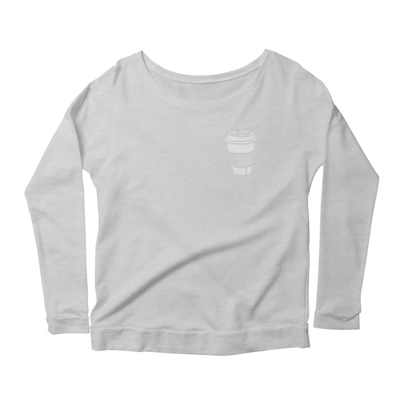 Coffee Butt (Mono Pocket Edition) Women's Scoop Neck Longsleeve T-Shirt by Brian Cook