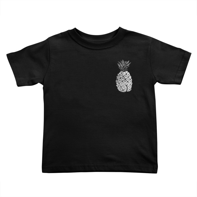 Pineapple Butt (Mono Pocket Edition) Kids Toddler T-Shirt by Brian Cook