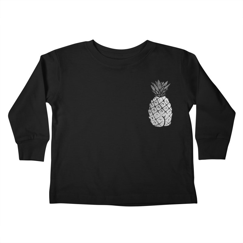 Pineapple Butt (Mono Pocket Edition) Kids Toddler Longsleeve T-Shirt by Brian Cook