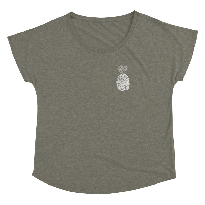 Pineapple Butt (Mono Pocket Edition) Women's Dolman Scoop Neck by Brian Cook