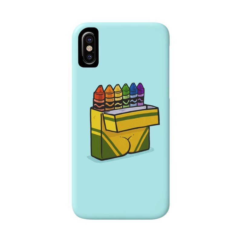 Crayon Butt in iPhone X / XS Phone Case Slim by Brian Cook