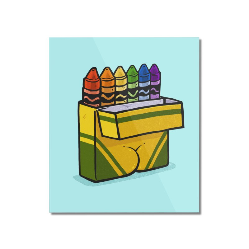 Crayon Butt Home Mounted Acrylic Print by Brian Cook