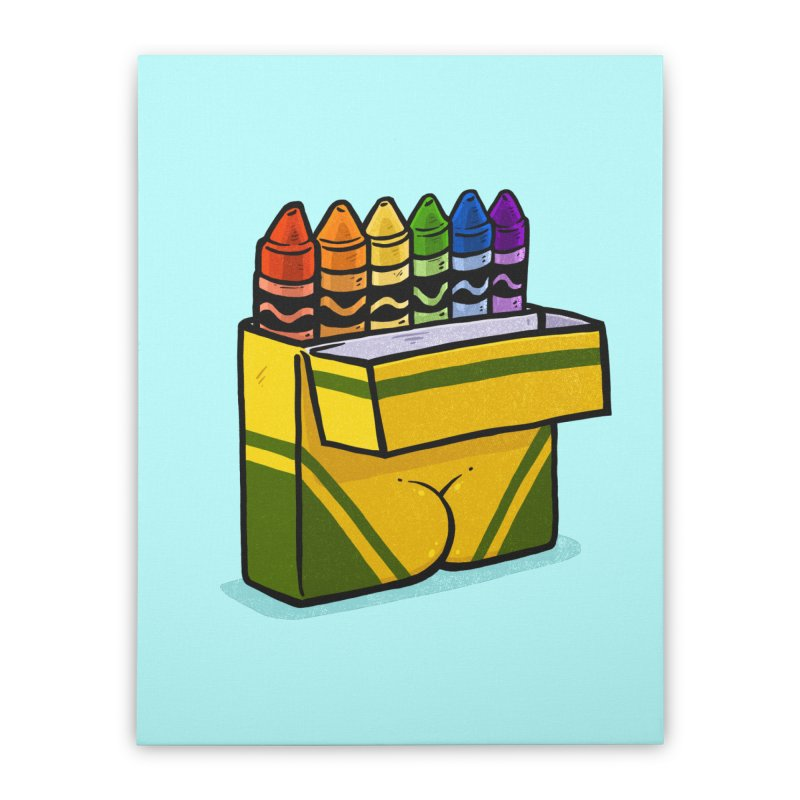 Crayon Butt Home Stretched Canvas by Brian Cook