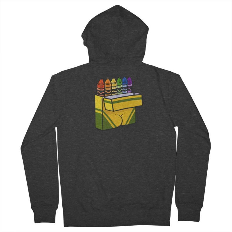 Crayon Butt Women's French Terry Zip-Up Hoody by Brian Cook