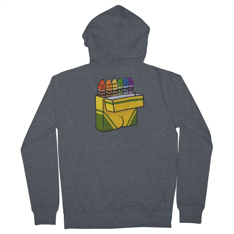 Crayon Butt Men's French Terry Zip-Up Hoody by Brian Cook