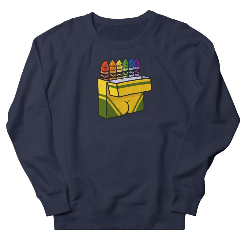 Crayon Butt Women's French Terry Sweatshirt by Brian Cook