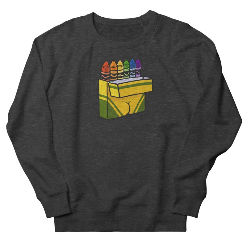 Crayon Butt Men's French Terry Sweatshirt by Brian Cook