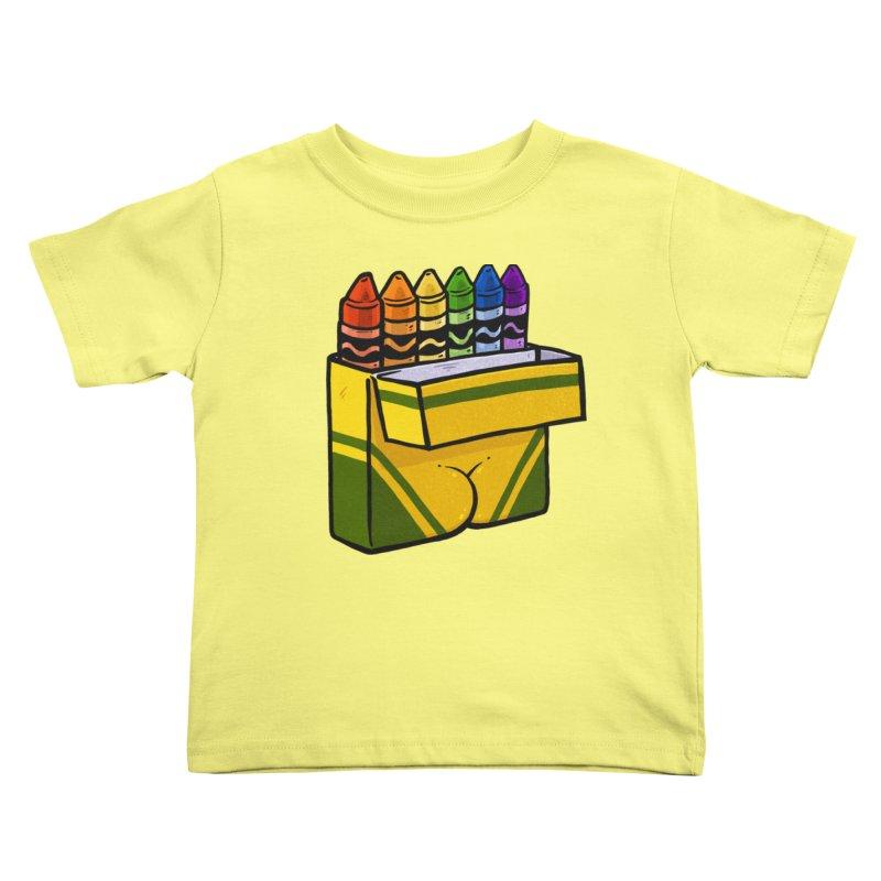 Crayon Butt Kids Toddler T-Shirt by Brian Cook