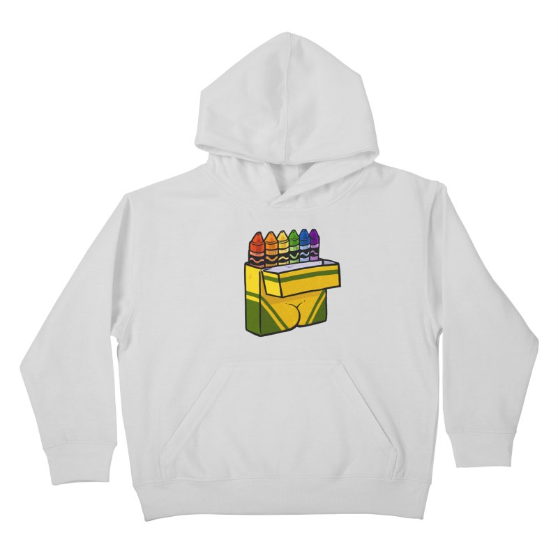 Crayon Butt Kids Pullover Hoody by Brian Cook