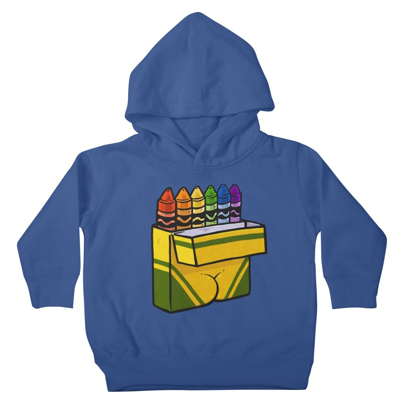 Crayon Butt Kids Toddler Pullover Hoody by Brian Cook