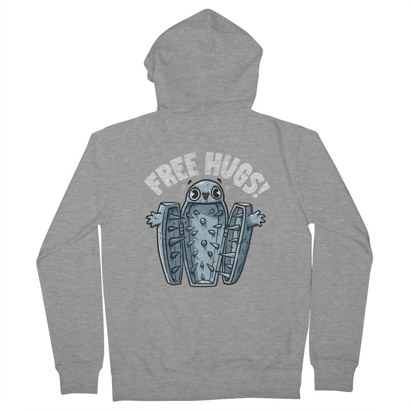 Free Hugs! Women's French Terry Zip-Up Hoody by Brian Cook