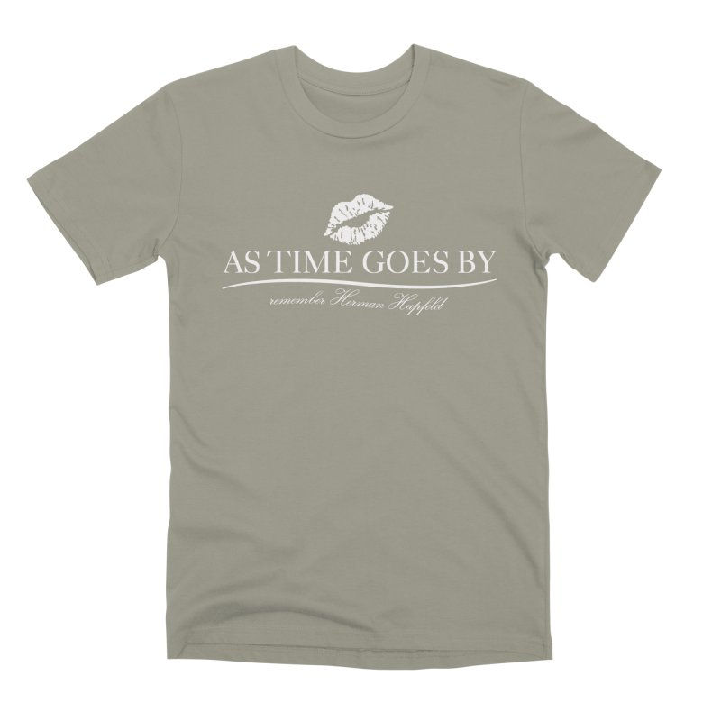 As Time Goes By (white) Men's Premium T-Shirt by Brian Harms