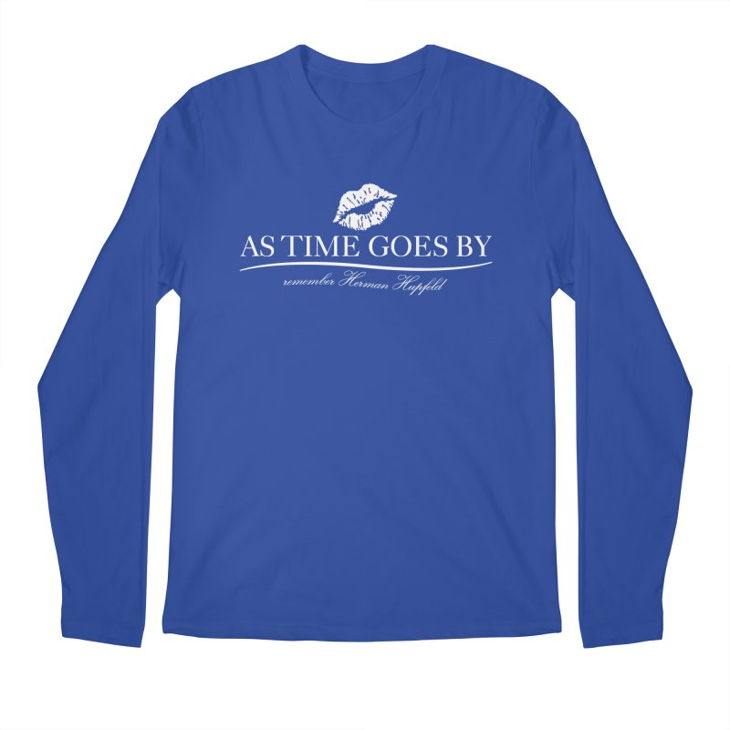 As Time Goes By (white) Men's Regular Longsleeve T-Shirt by Brian Harms