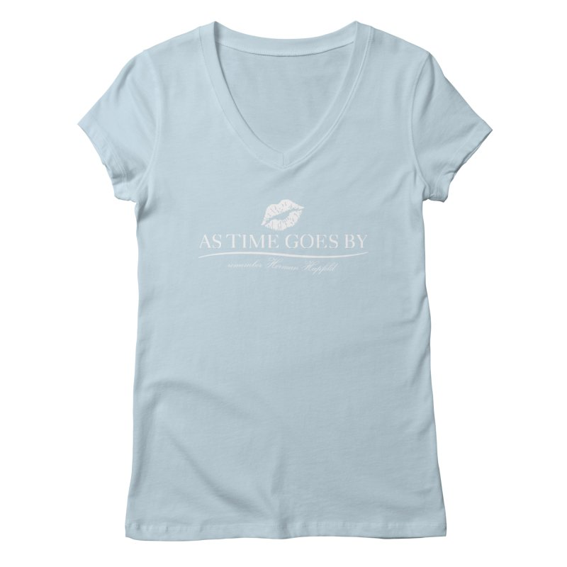 As Time Goes By (white) Women's Regular V-Neck by Brian Harms