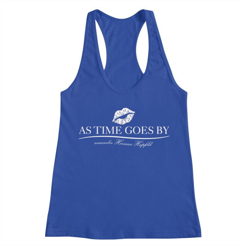 As Time Goes By (white) Women's Racerback Tank by Brian Harms