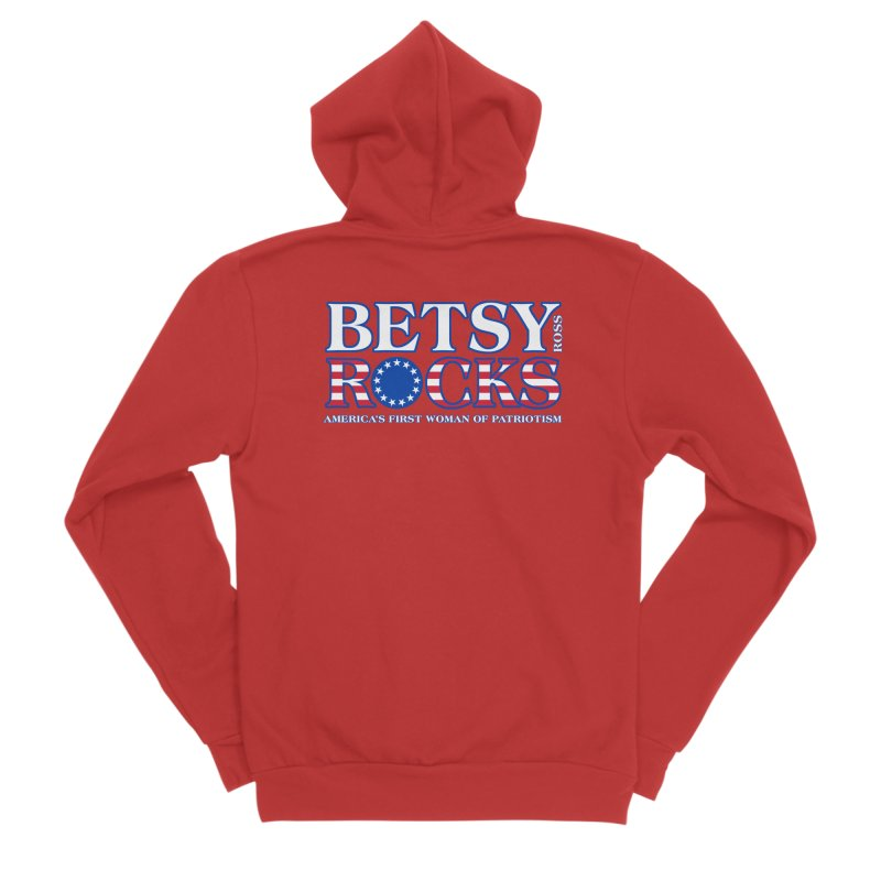 Betsy Ross Rocks Men's Zip-Up Hoody by Brian Harms