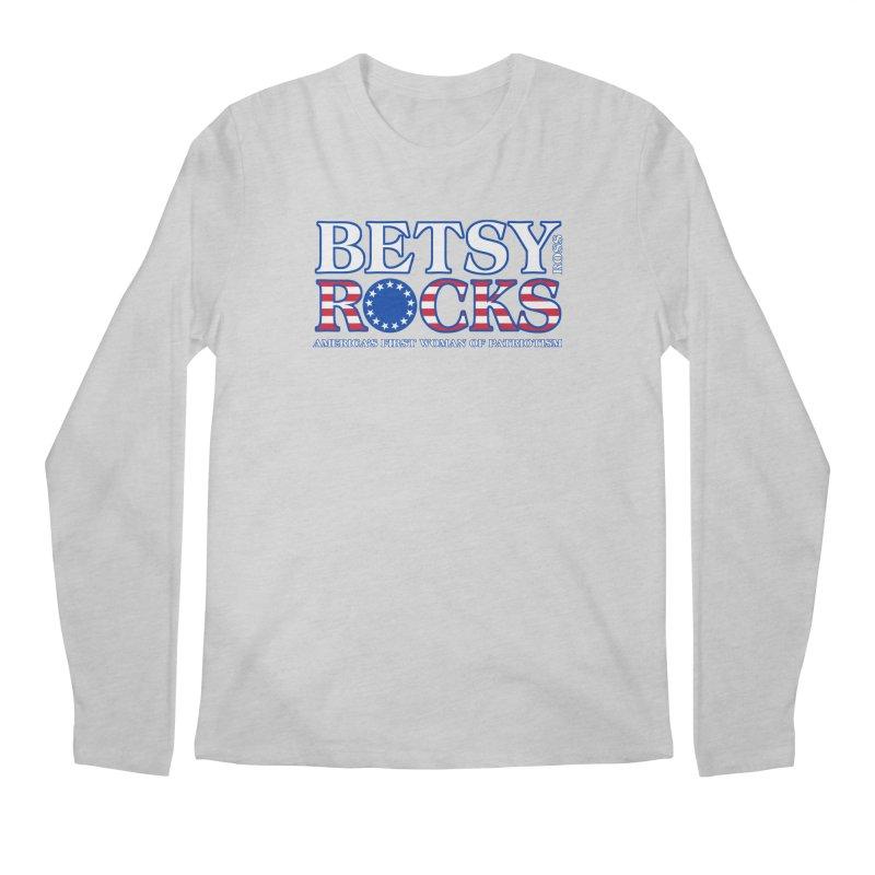 Betsy Ross Rocks Men's Regular Longsleeve T-Shirt by Brian Harms